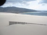 In der nähe von Tarifa. Sanddünen aus Sand von der Sahara ca. 14km bis nach Afrika
