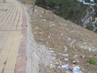 Müll wird in spanien nicht weggeräumt. (Algeciras)