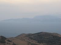Blick auf Afrika in der nähe von Tarifa
