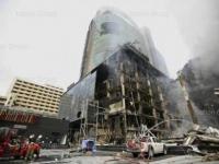 Central World Bangkok Thailand ausgebrannt