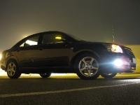 Auto bei Nacht mit Licht