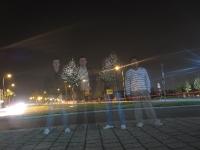 Nachtaufnahme Kehl Stadteinfahrt Ghost