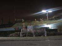 Nachtaufnahme Bahnhof Ghost