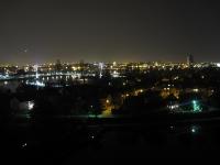 Nachtaufnahme Stadtüberblick Passerelle