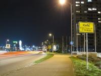 Nachtaufnahme Kehl Stadteinfahrt