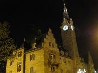 Nachtaufnahme Strasbourg La Poste Hafen