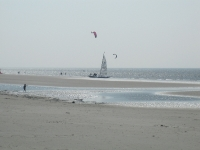 Nordsee St. Peter Ording Strand Kitesurfing