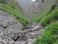 Schweiz Alpen Gletscherspalt