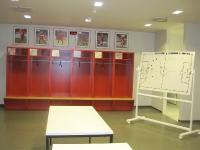 Allianz Arena in Münchenin der Umkleide FC Bayern