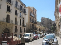 Strassengasse in Sizilien Palermo