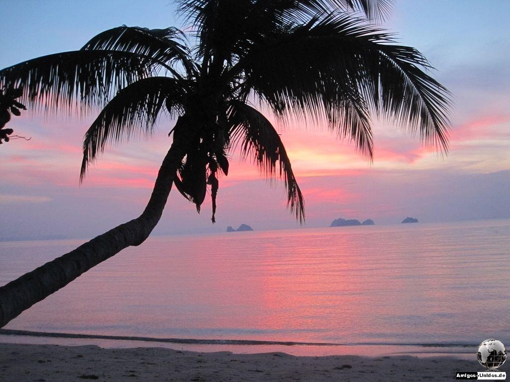 Sonnenuntergang Taling Ngam Beach