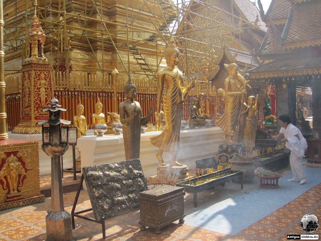 Tempel Doi Suthep in den Bergen von Chiang Mai