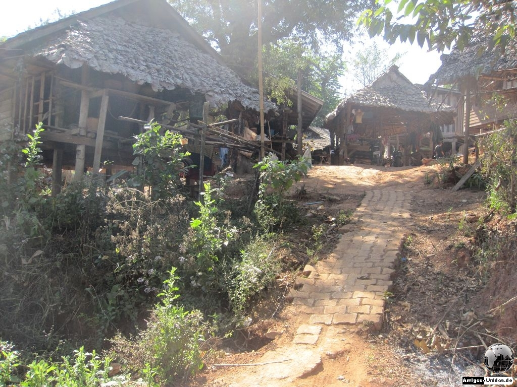 Myanmarisches Flüchtlingsdorf bei Chiang Mai