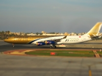 Tilt Shift Fotografie - Gulf Air Flugzeug