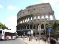 Tilt Shift Fotografie - Koloseum Rom