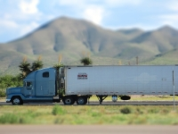 Tilt Shift Fotografie - Truck in USA