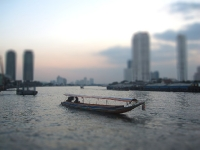 Tilt Shift Fotografie - Thailand Boote