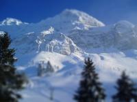 Tilt Shift Fotografie - Schweiz Alpen