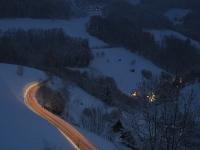Winter-Langzeitaufnahme