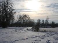 Winterlandschaft zugefrorener See