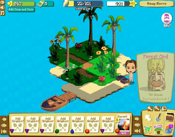 Treasure Isle - neues Facebook Game