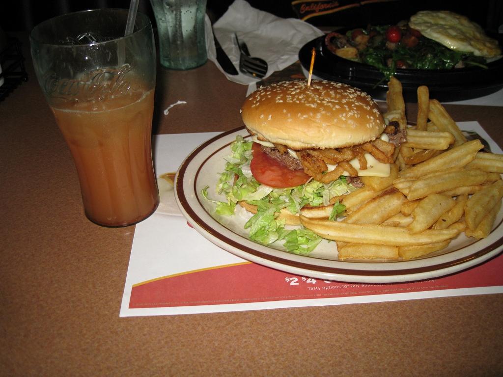 Denny's Restaurant - Hickory Chicken Burger