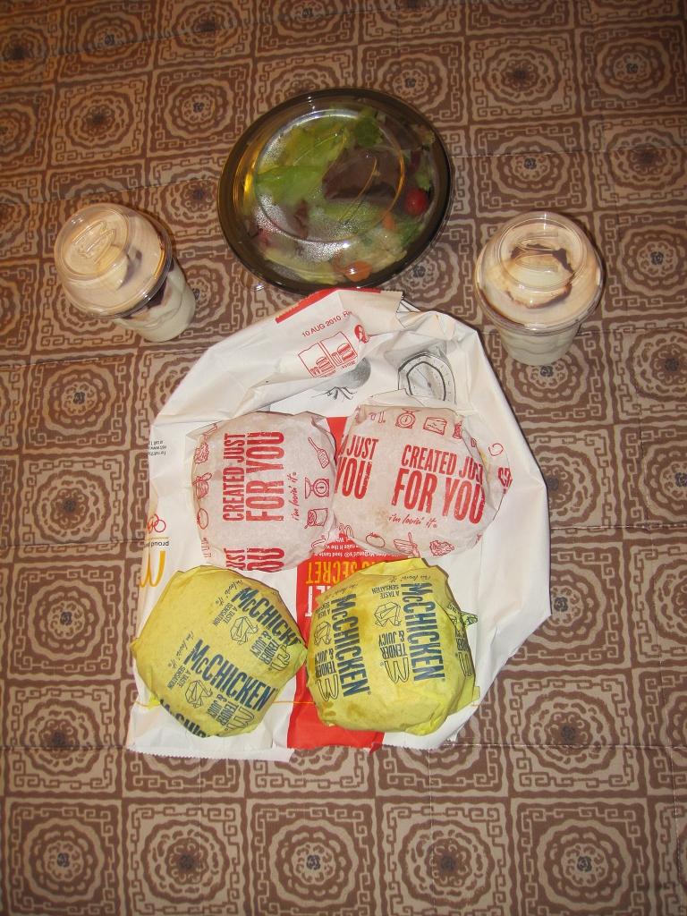McDonald Mitternachtsmenü