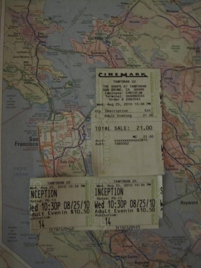 Kinoticket für Inception in San Francisco