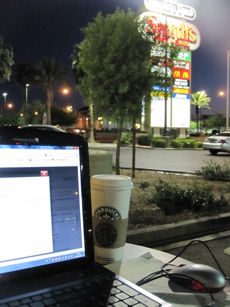 Beim bloggen in Las Vegas im Starbucks