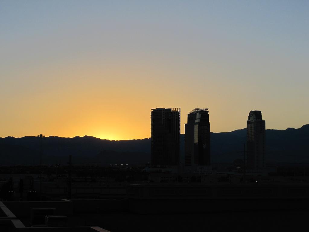Sonnenuntergang in Las Vegas Nevada