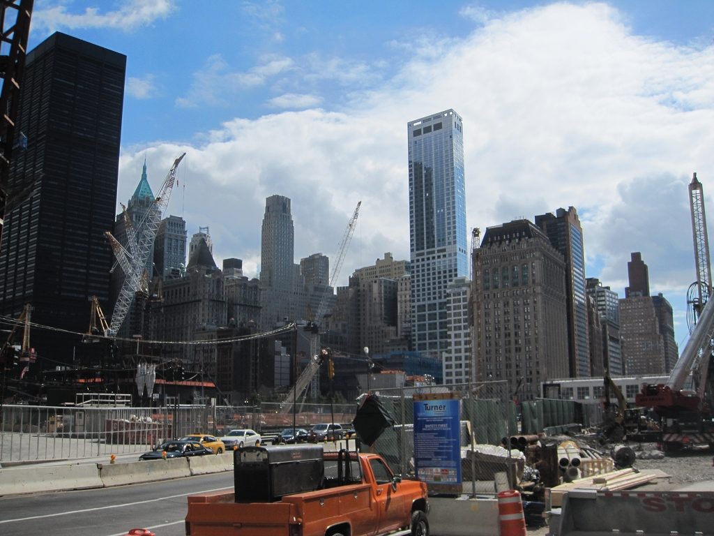 Ground Zero Baustelle in New York City