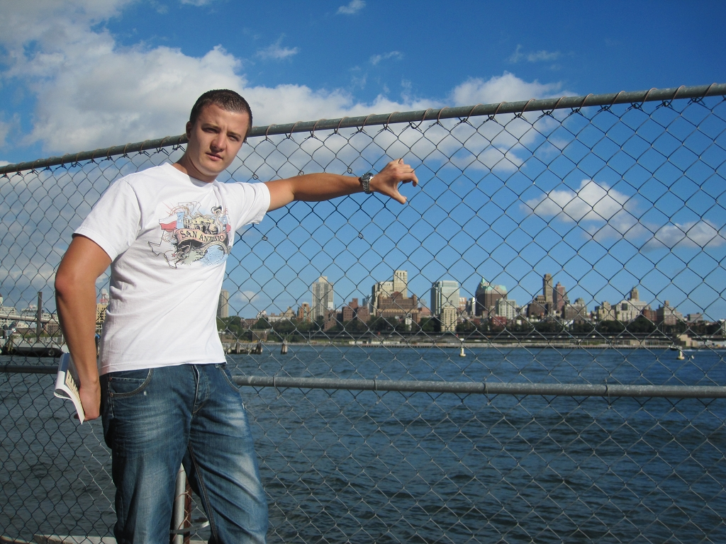 Sicht auf Brooklyn über den East River