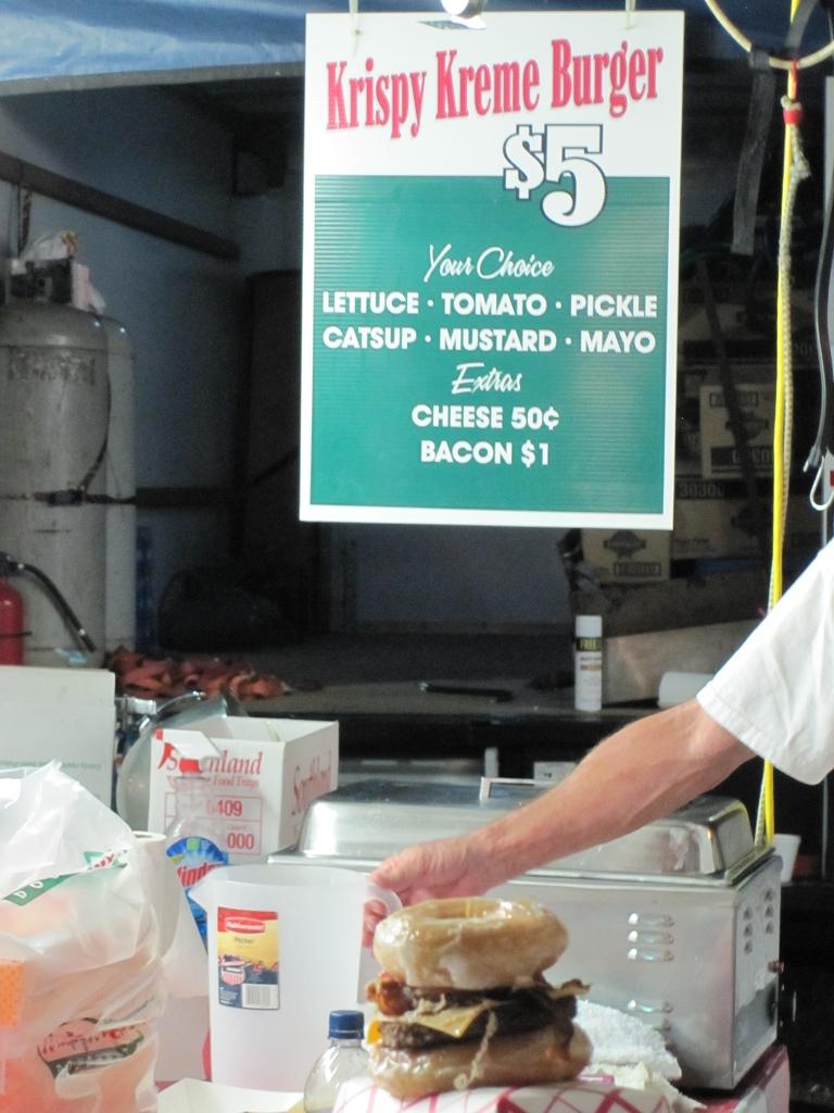 Donut Burger von Krispy Kreme
