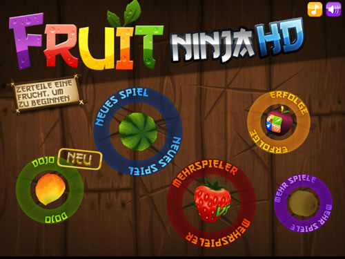 Fruit Ninja HD iPad App