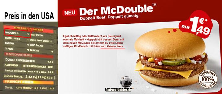McDouble Preisvergleich USA und Deutschland