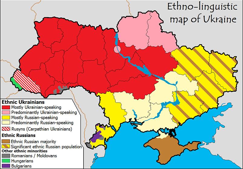 Grafik der Ethnischen Gruppen in der Ukraine