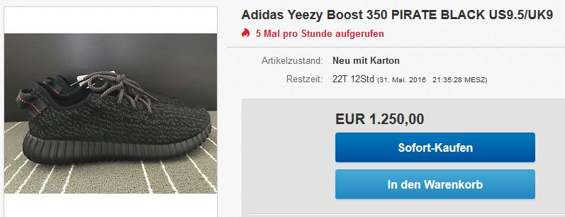 Adidas Yeezy Boost 350 Pirate Black - bei eBay kaufen