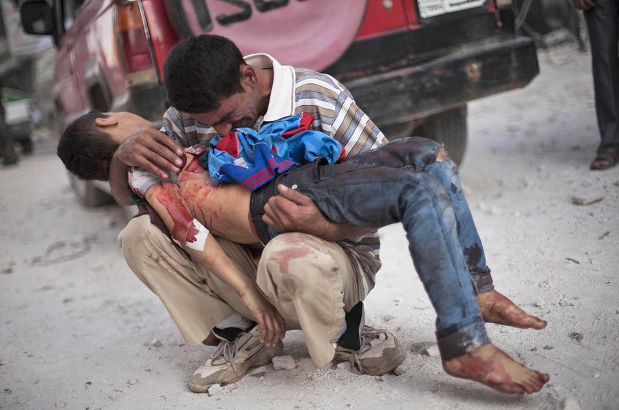 Bombenangriffe auf Aleppo