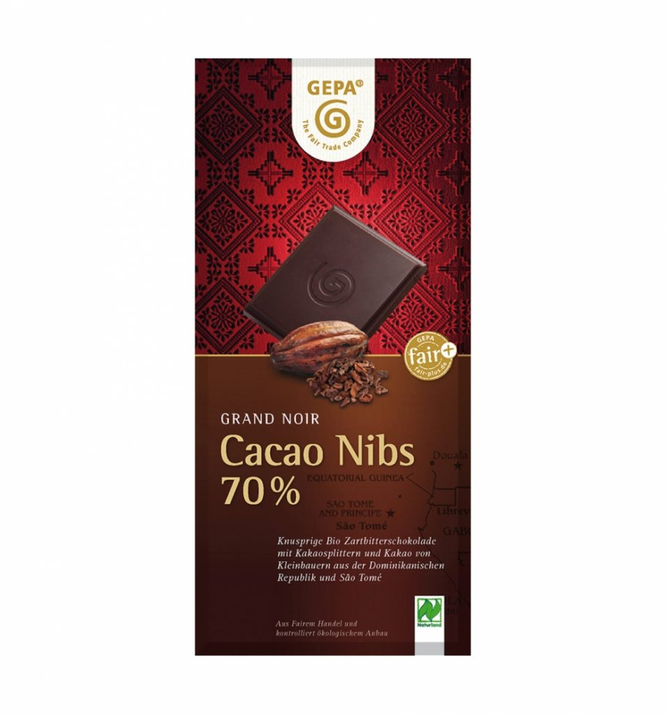Dunkle Schokolade mit hohem Cacao-Anteil