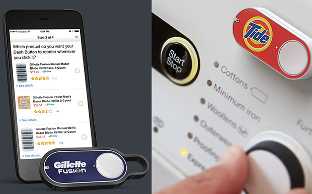 Amazon Dash Buttons - Gillette - Tide